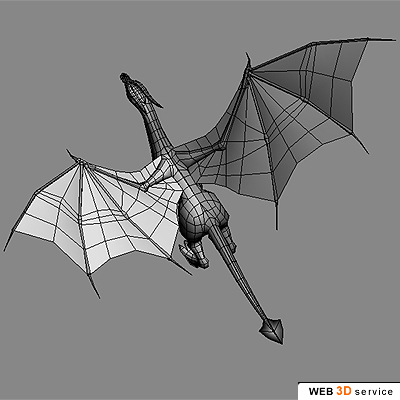 Low poly dragon 3D model - click to buy