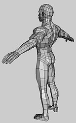 Low polygonal Hero body 3d model