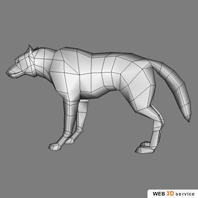 3d gallery low polygonal models wolf for Schaukelstuhl 3d modell
